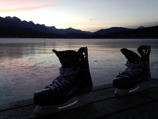 Eislaufen am Presseggersee_wunderschoen