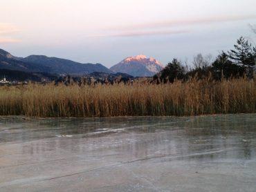 Eislaufen am Pressegger See und Weissensee