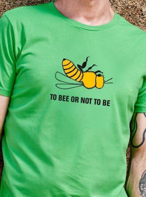 Biene T-Shirt gruen Herren
