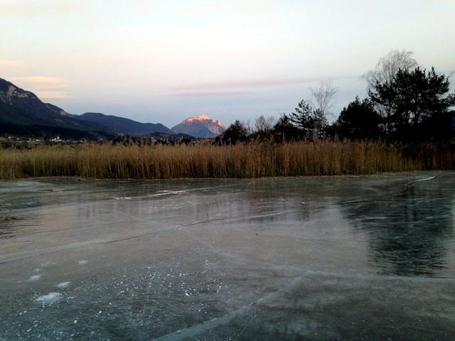 Eislaufen am Presseggersee