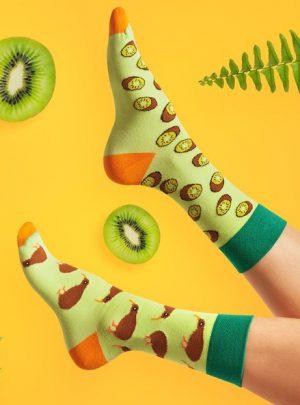 Bunte Socken KIWI