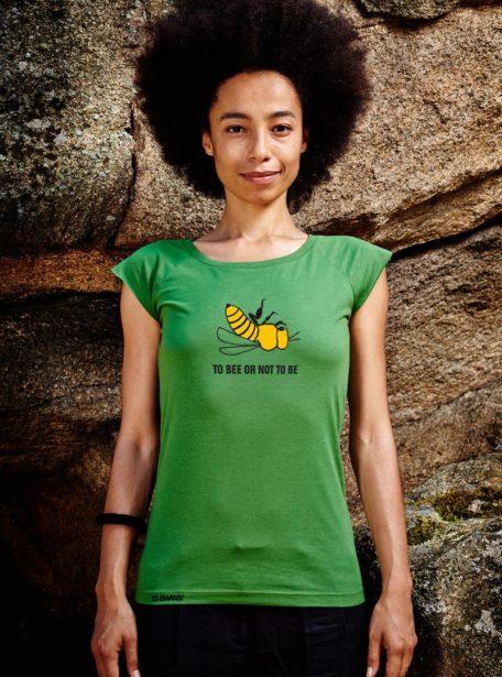 bee tshirt damen bambus biobaumwolle
