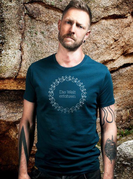 Herren Die Welt Erfahren Bio T-Shirt