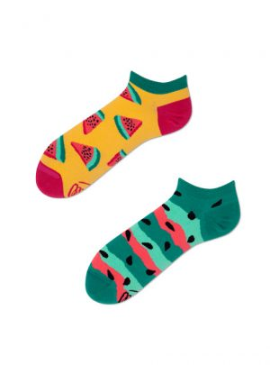Bunte Socken Melone Sneakers Low
