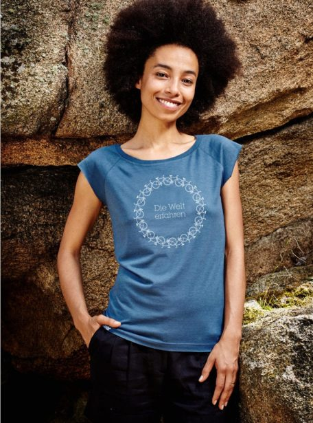 Damen Die Welt Erfahren Bio T-Shirt