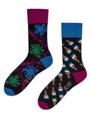 Kunst und Pinsel- Malerei Socken
