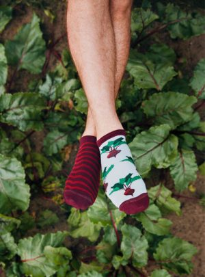 Rote Rueben Socken kurz