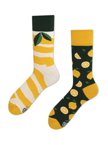 bunte Zitronen Socken