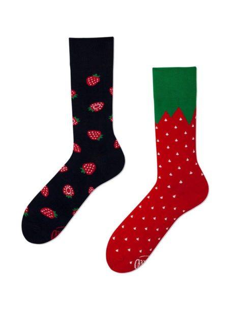 witzige Erdbeeren Socken