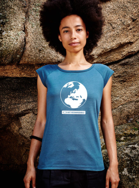 Not rechargeable Bio Damen T-Shirt denim