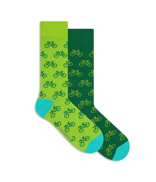 am besten geliebt tolle sorten klassisch GRÜNE LUNGE Fahrrad Socken