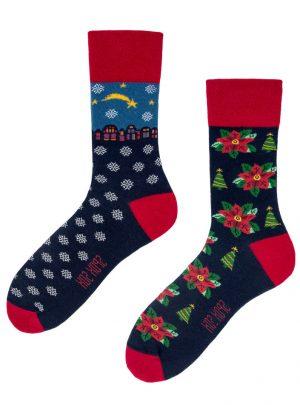 Sternschnuppe und Weihnachtsstern Socken