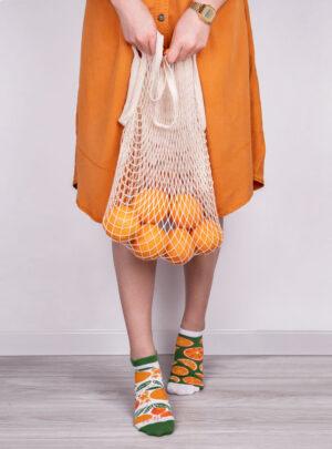 Tolle Orangen Sneaker Socken Spox Sox