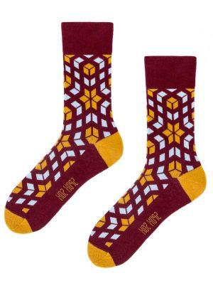 rosettenmuster Socken