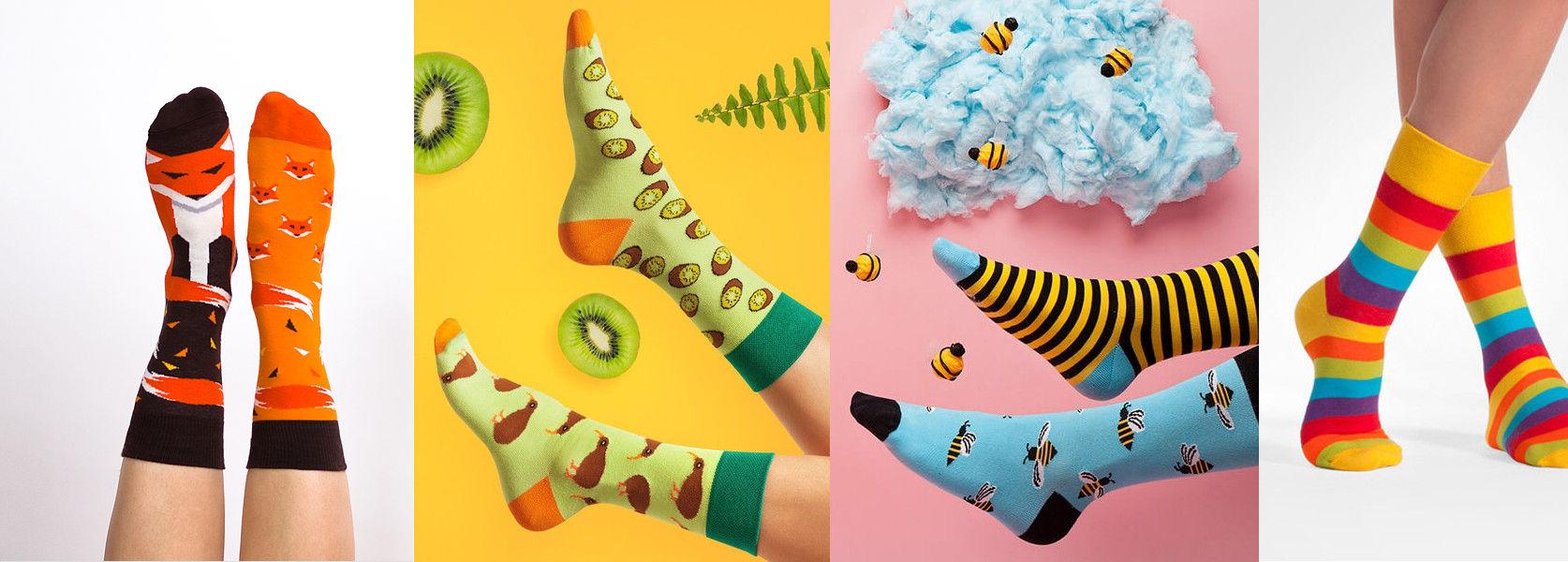 lustige Socken machen gute Laune
