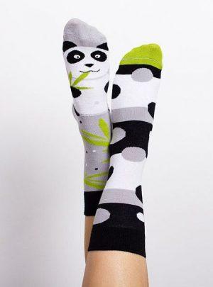 fröhliche Panda Socken