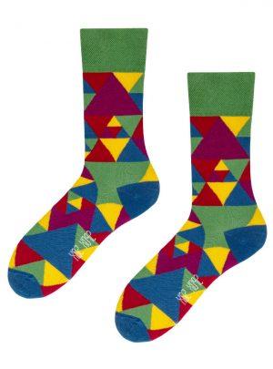bunte Dreiecke Hundertwassers Socken-Spox-Sox