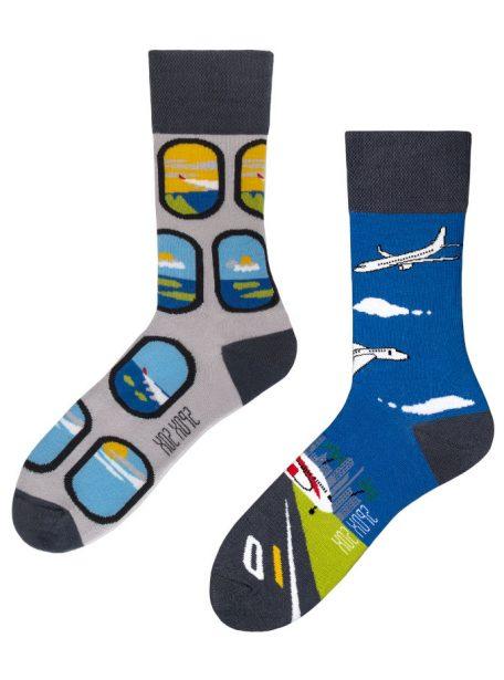 bunte Flugzeuge Socken Spox-Sox