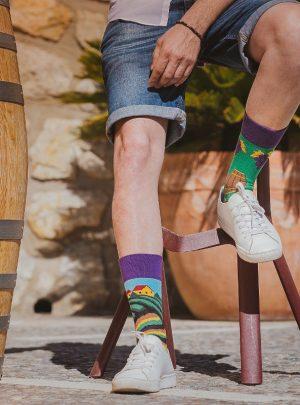 bunte Weinliebhaber Socken-Spox-Sox