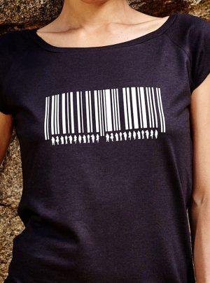 Barcode T-Shirt Schwarz