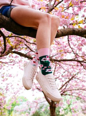 Bunte Kirschen Socken