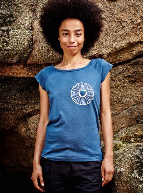 Labheart T-Shirt Damen, denim