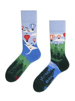 Abenteuer Ballonfahrt Socken Many Mornings