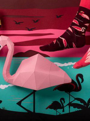 Witzige Flamingo Socken