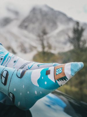 Winterspass in den Alpen Socken - coole Socken Spox Sox