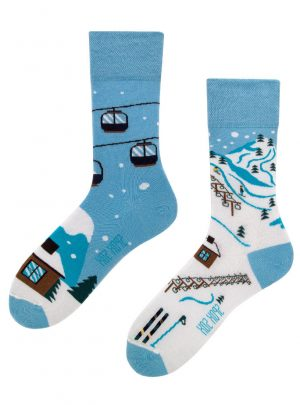 coole Winterspass in den Alpen Socken - Spox Sox