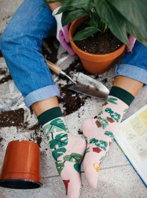 Lustige Pflanzenliebhaber Socken
