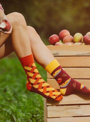 Lustige Socken Spox Sox- Selbstgemachter Apfelkuchen Socken