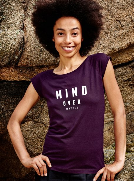 mind over matter Damen T-Shirt_Aubergine