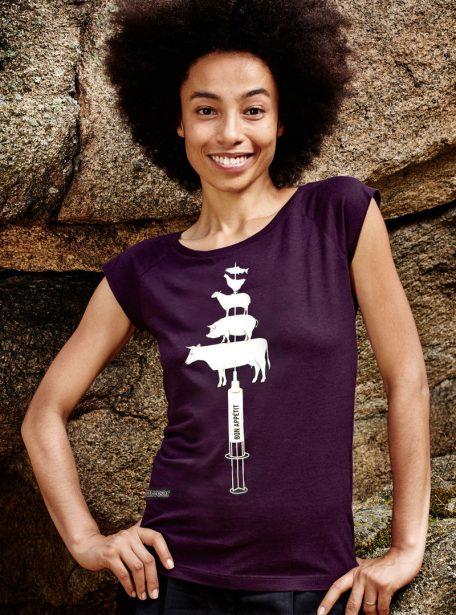 Damen Bio T-Shirt Bon Appetit