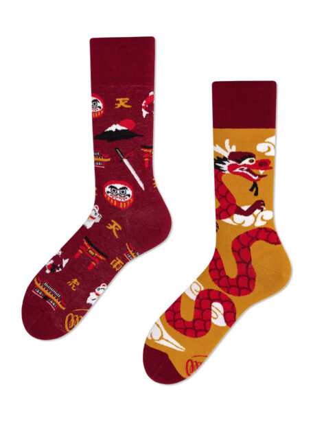 Asian Dragon Socken - lustige Socken MM