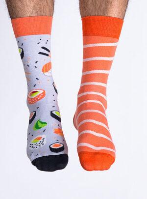 Lustige ungleiche Socken Sushi