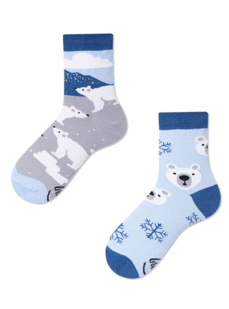 Lustige Kinder Socken- Eisbear