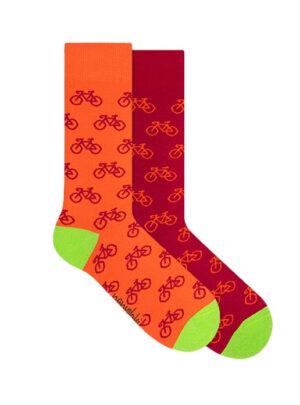 Sonnenrote Fahrrad Socken Nanushki