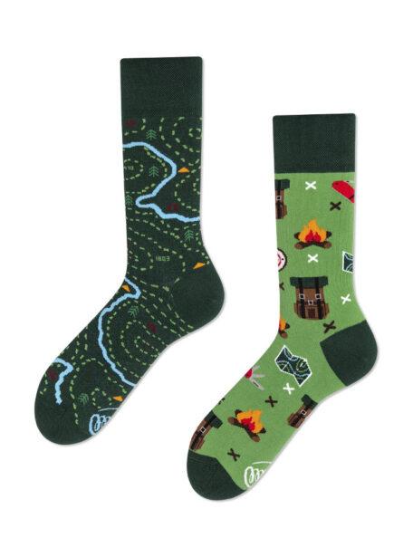 Wandern ueber Grenzen Socken