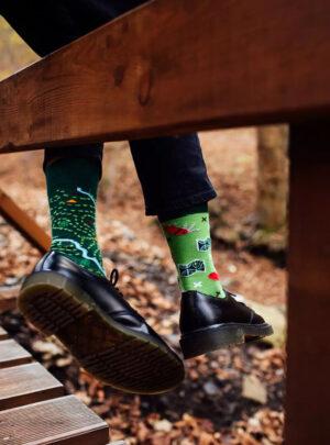 WANDERN über GRENZEN Socken