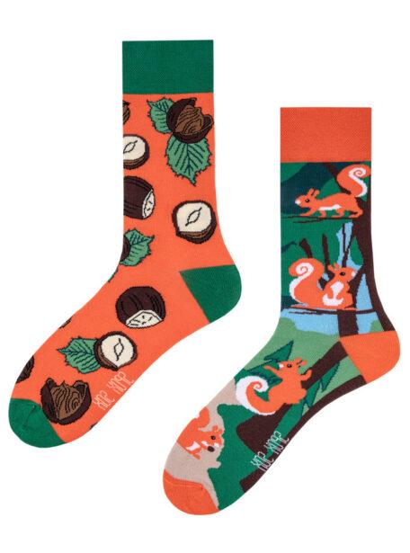 Bunte Eichhoernchen Socken